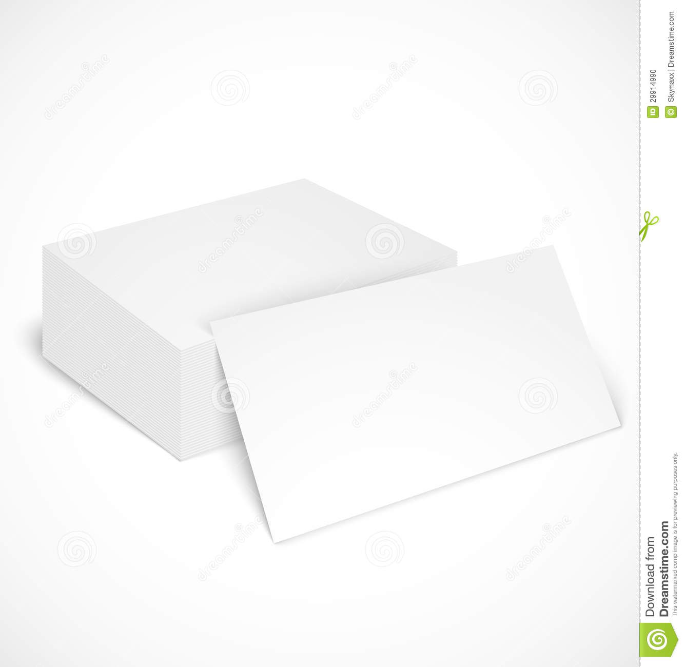 Stack Of Business Cards With Shadow Template Stock Photo - Image ...