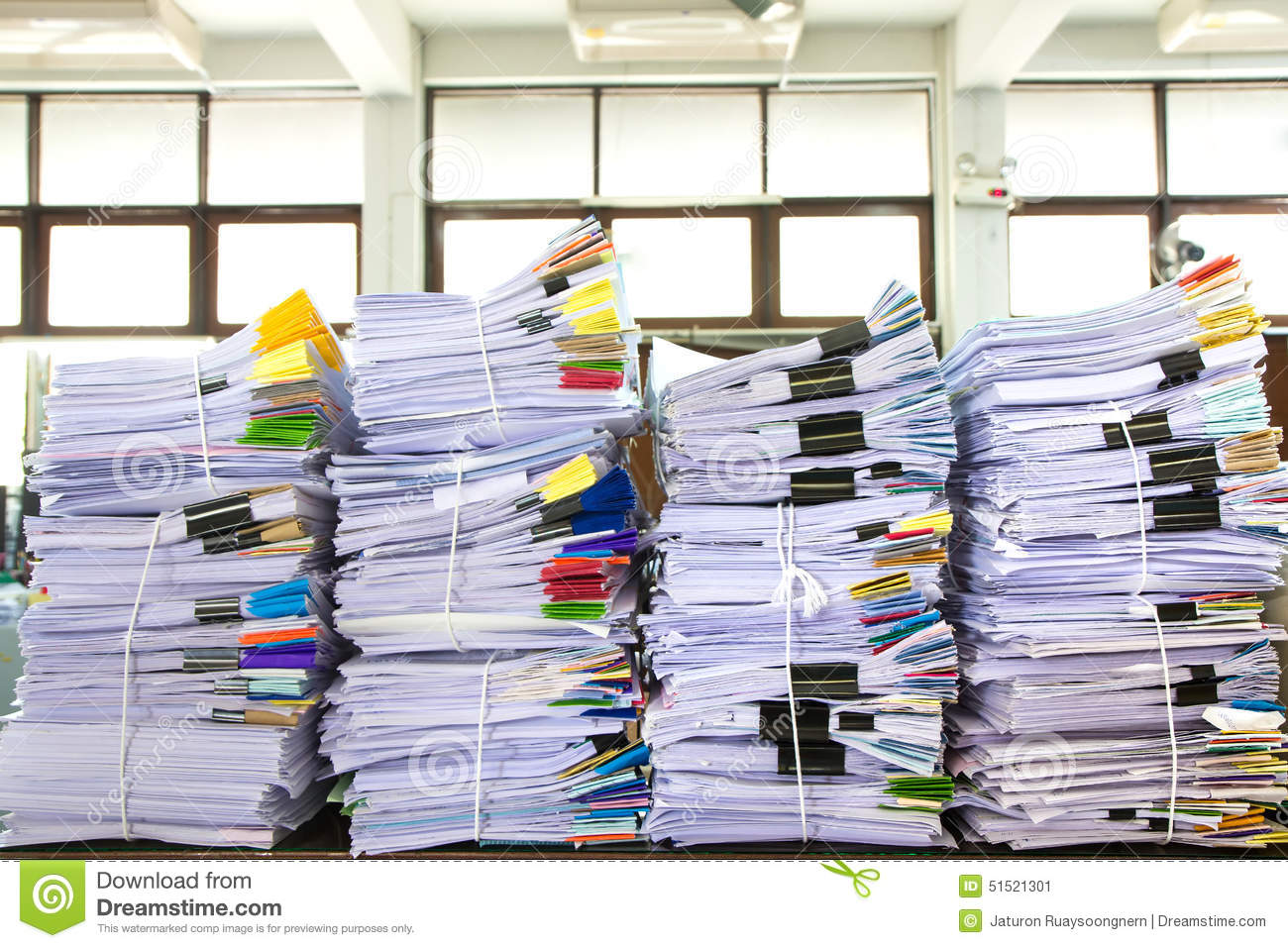 stack of business papers stock image  image of files