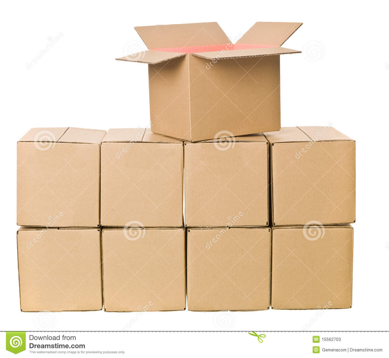 Stack Of Cardboard Boxes Stock Photos Image 15562703