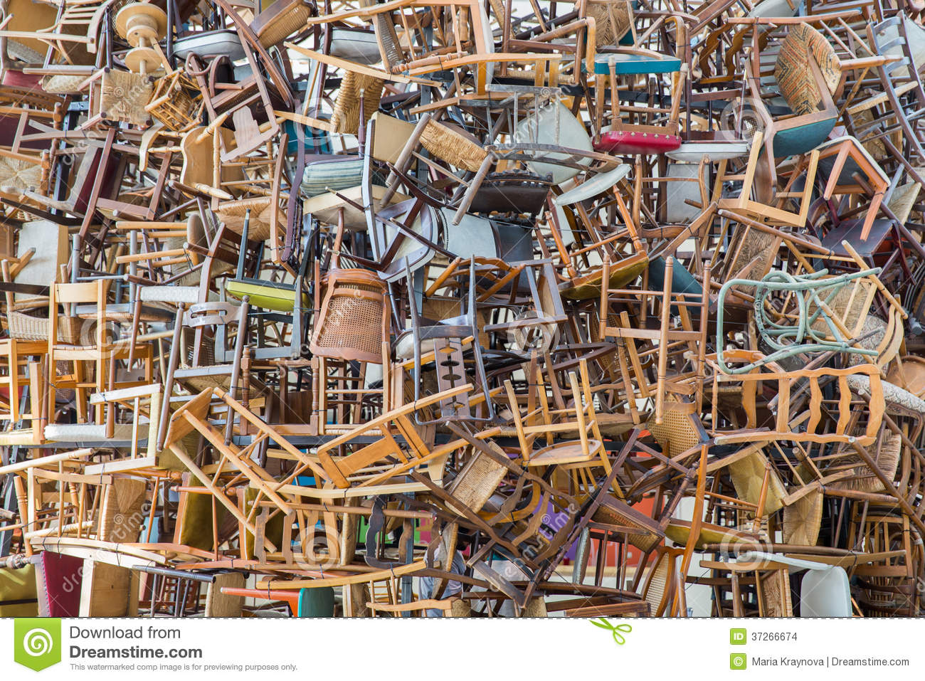 Stack Of Chairs Stock Images Image 37266674