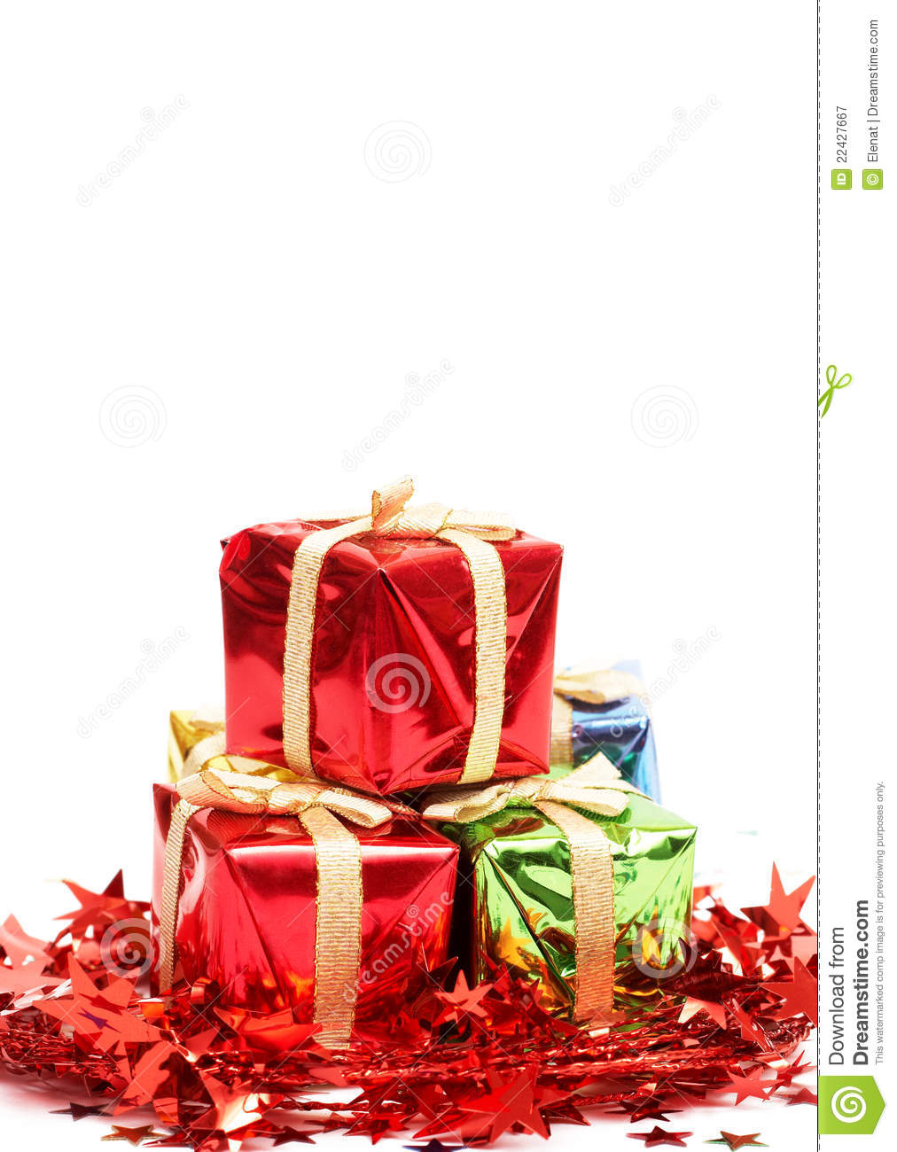 Stack of christmas gifts royalty free stock photography