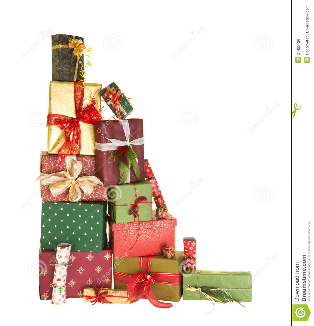 Stack Of Christmas Presents Royalty Free Stock Image - Image: 27425126