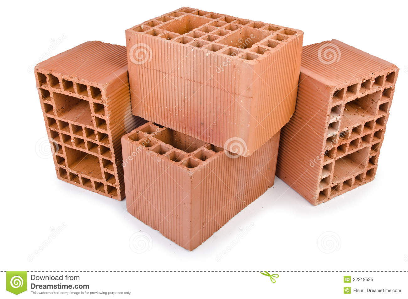 stack of clay bricks royalty free stock photo image 32218535. Black Bedroom Furniture Sets. Home Design Ideas