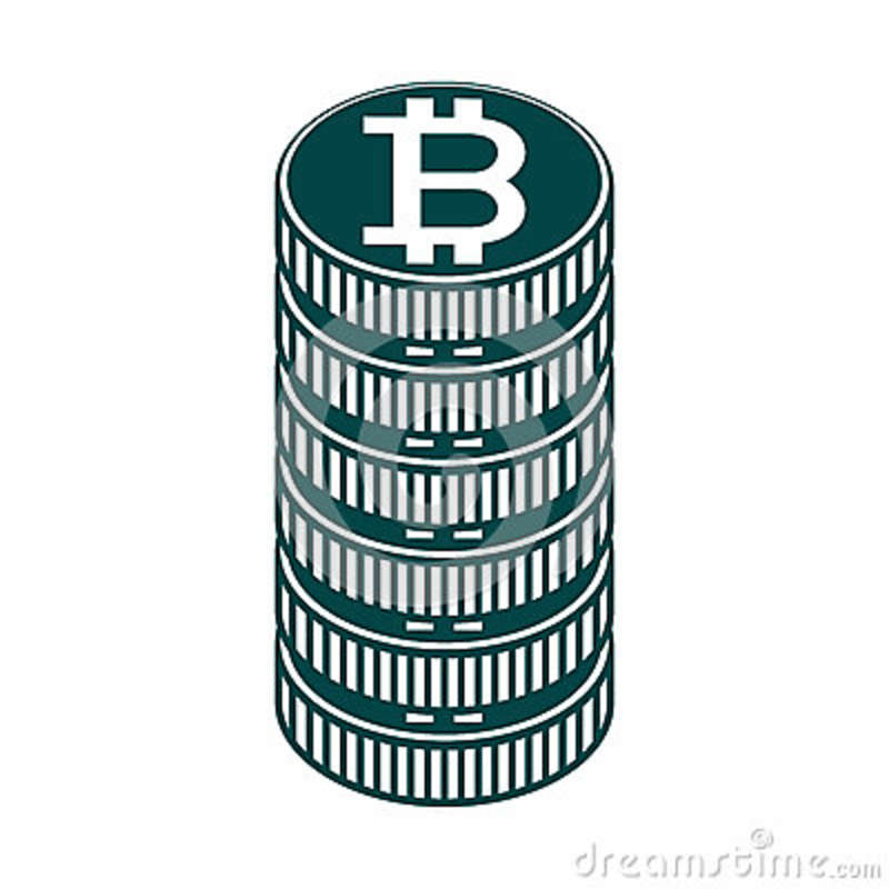 Stack Of Coin And Currency Symbol Of Baht Thailand Stock Vector