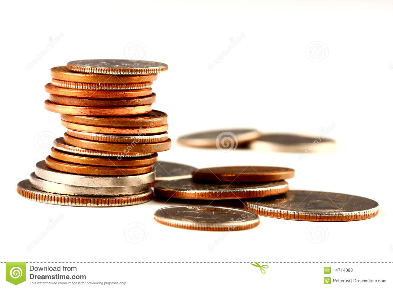 Stack Of Coins Royalty Free Stock Photos Image 14714088
