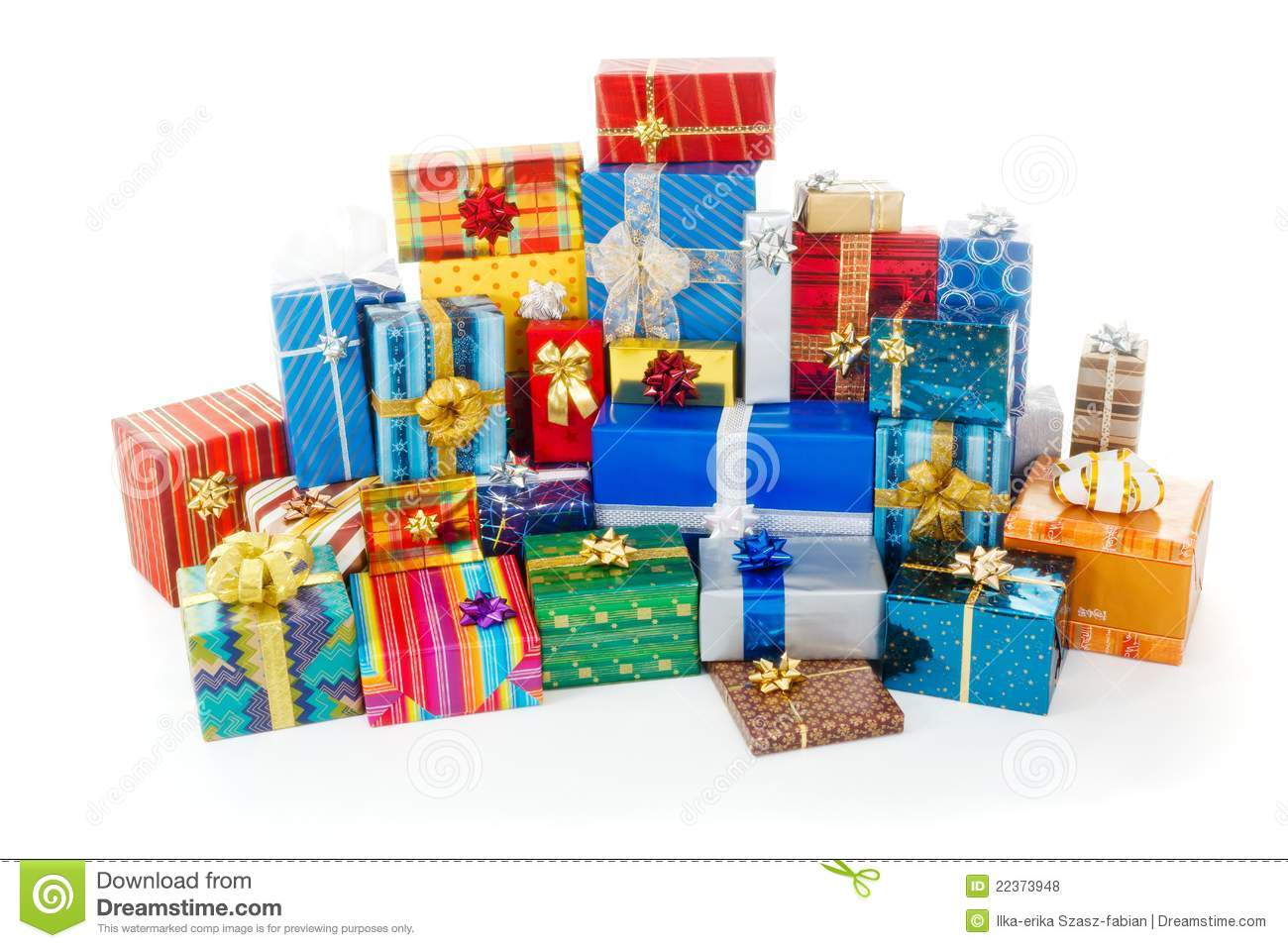 Stack Of Colorful Christmas Presents Royalty Free Stock Photos ...