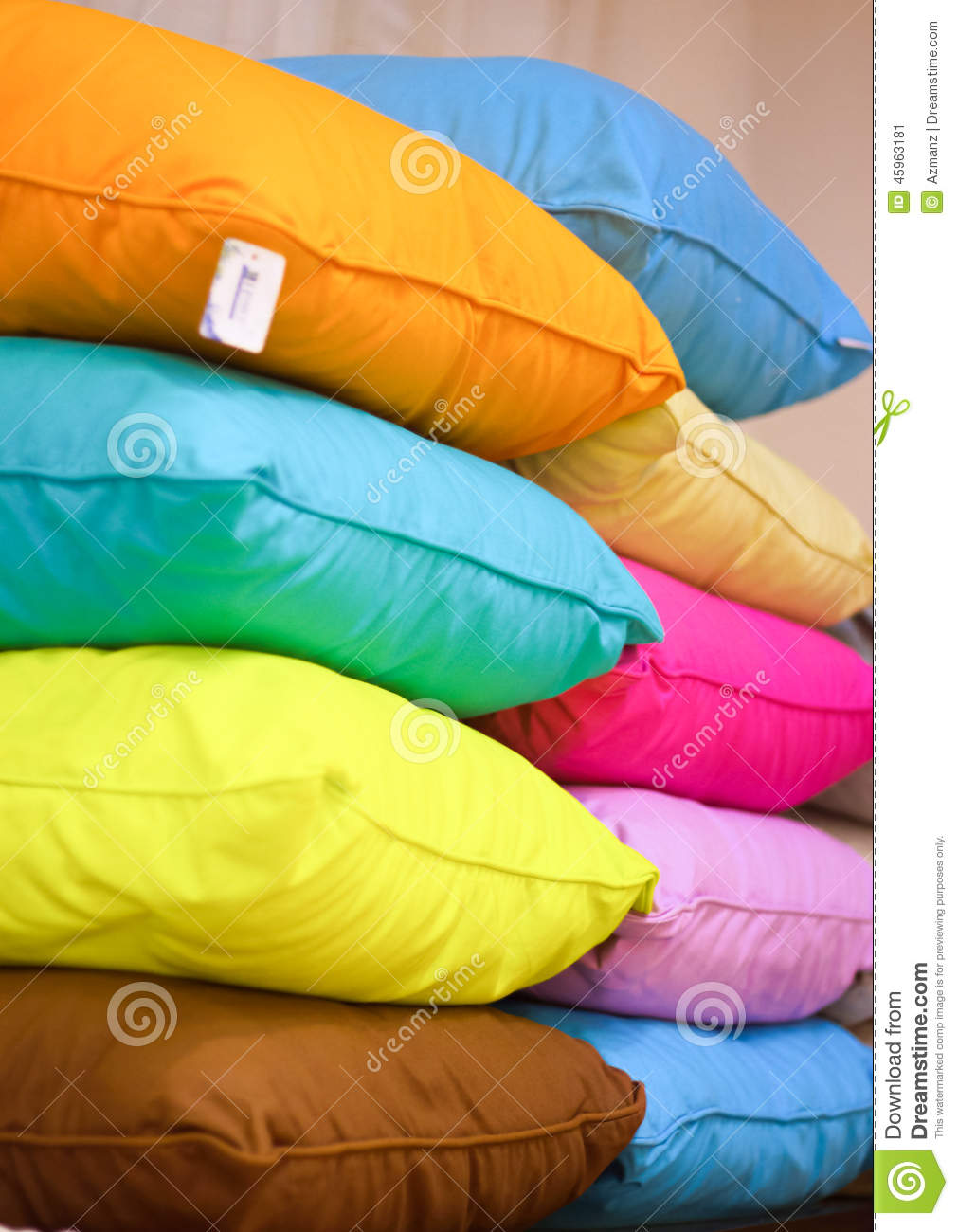 colourful display pillows ...