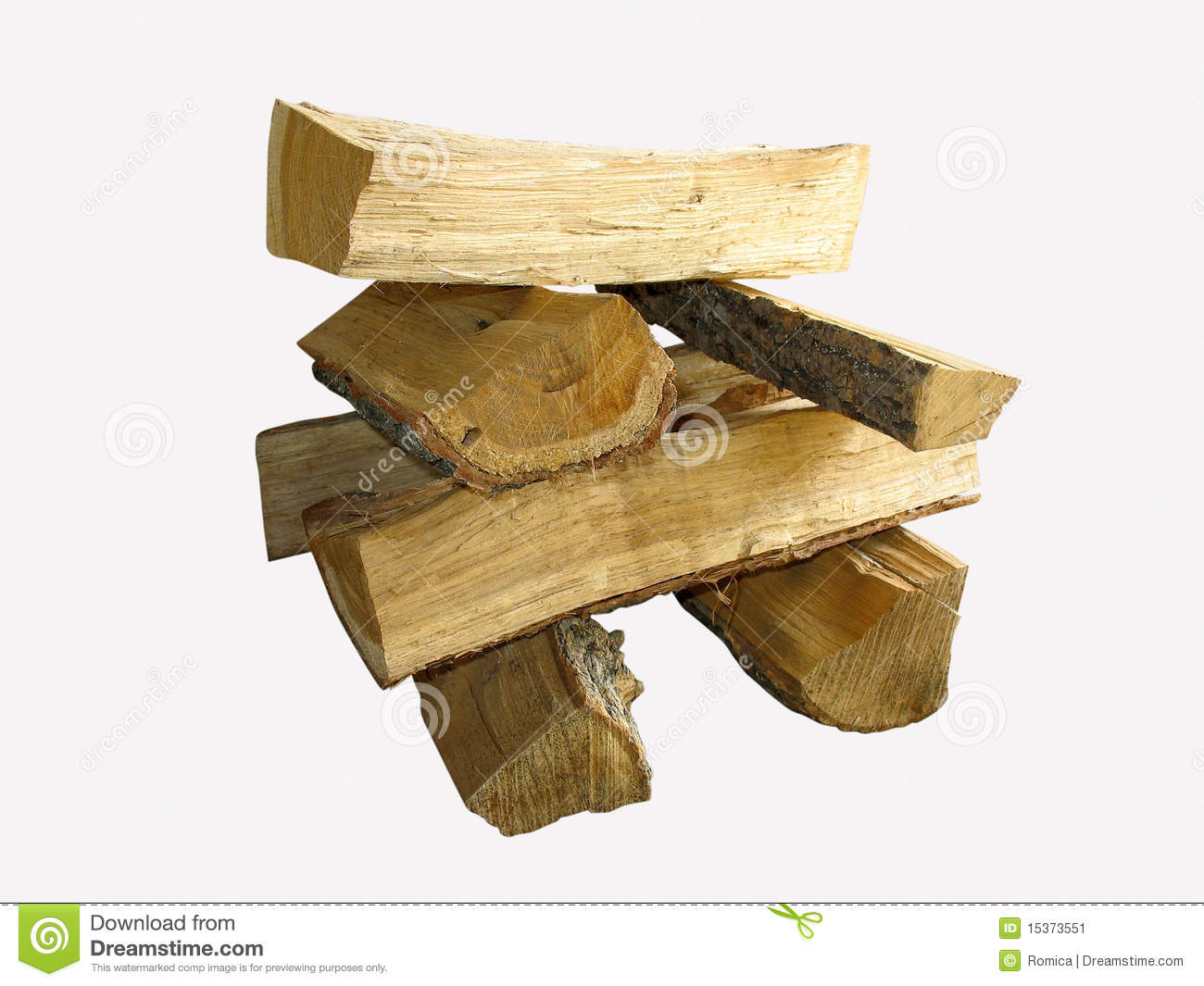 Cut Wood Logs ~ Stack of cut logs fire wood isolated over white stock