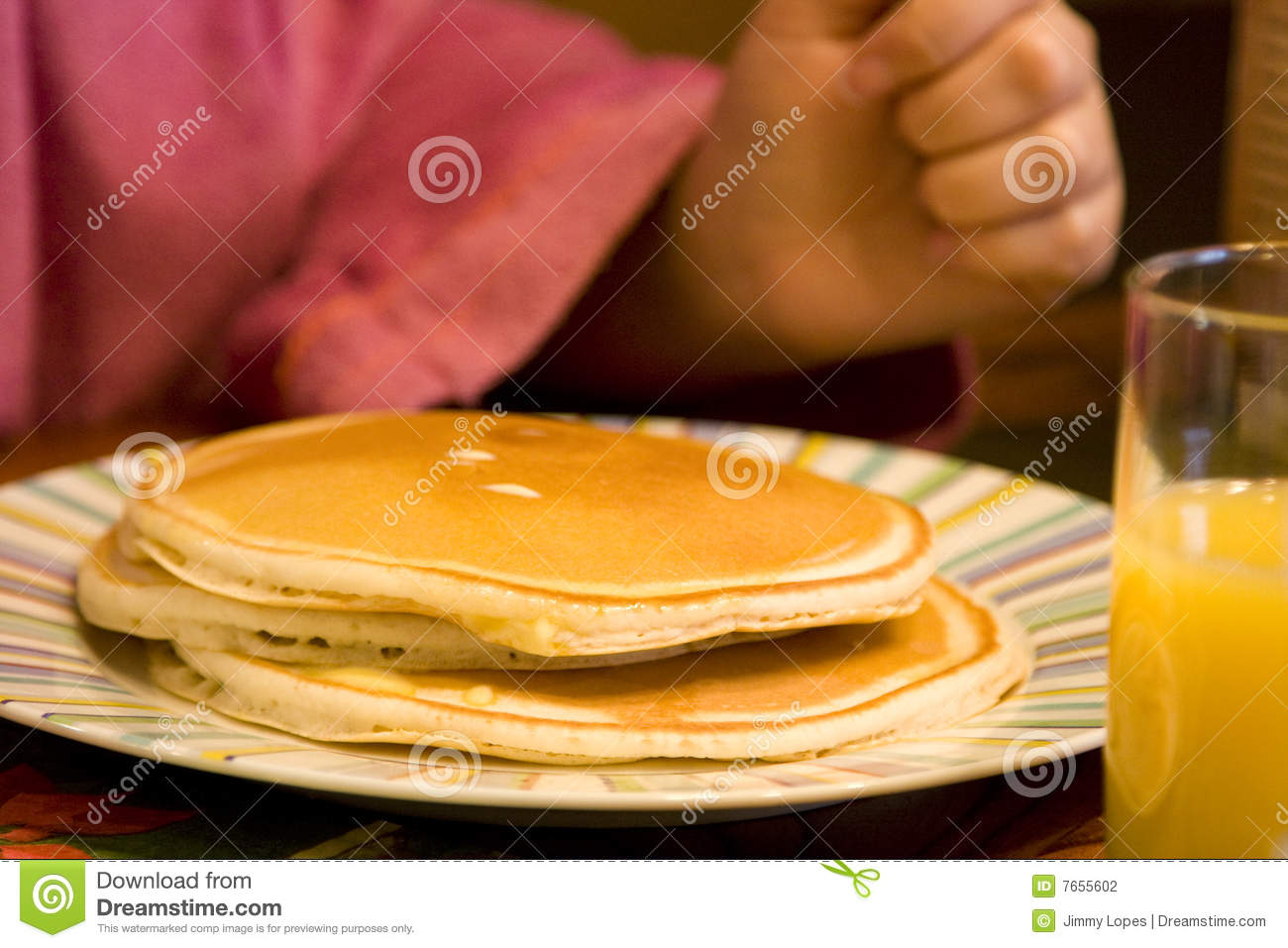 Download Stack Of Delicious Pancakes Stock Photo - Image of fluffy, pancake: 7655602