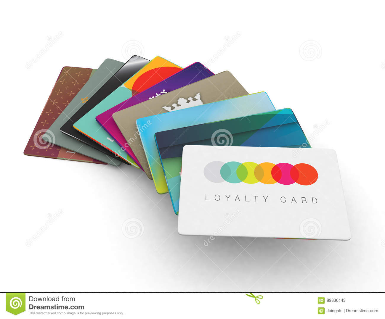 Stack Of Different Loyalty Reward Cards Stock Illustration ...