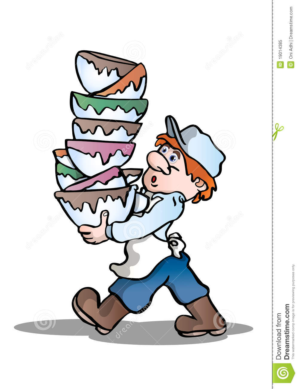 Dirty Dishes Clip Art Stack dirty bowl royalty free