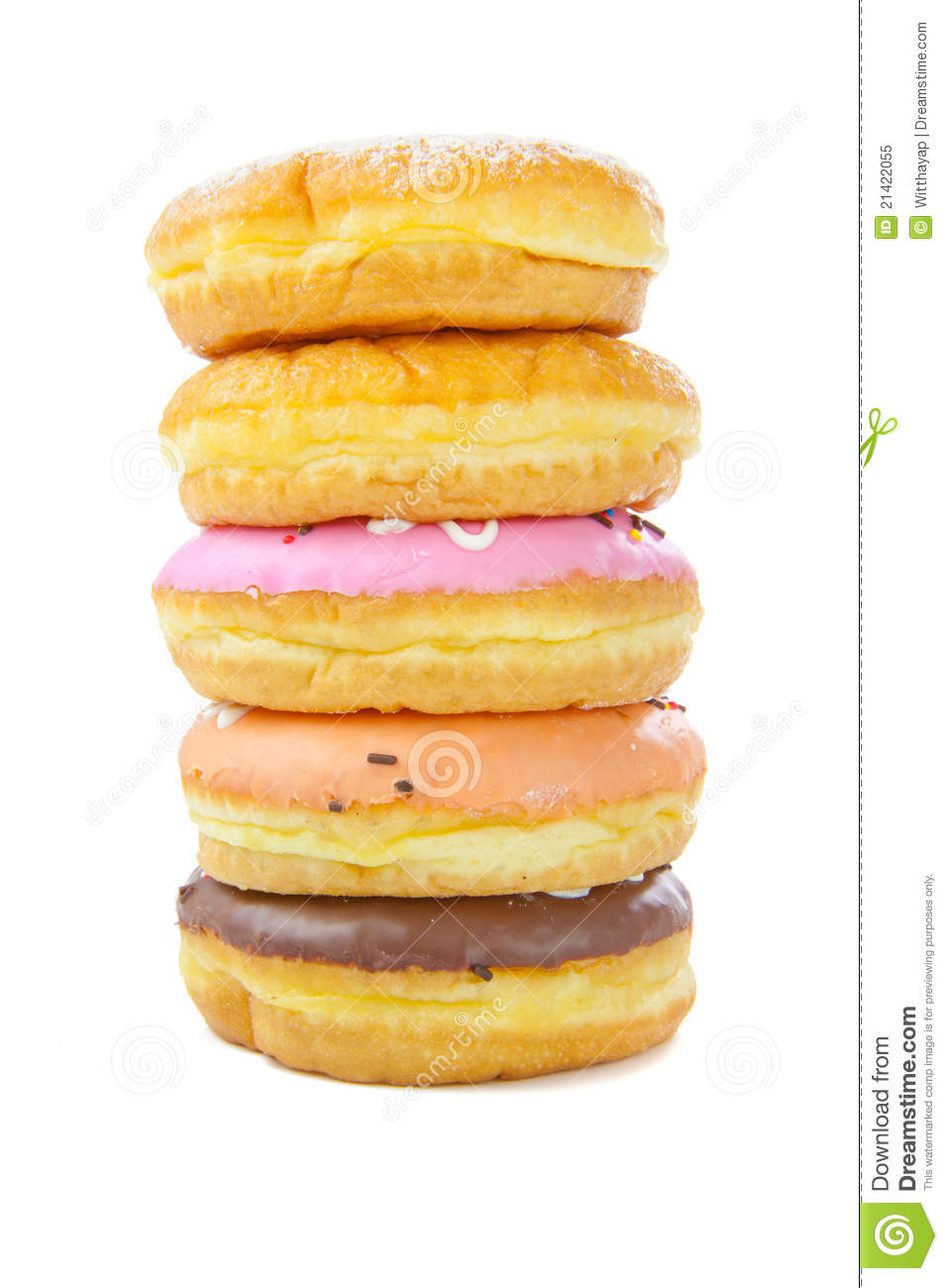 A Stack Of Donuts Royalty Free Stock Photo Image 21422055