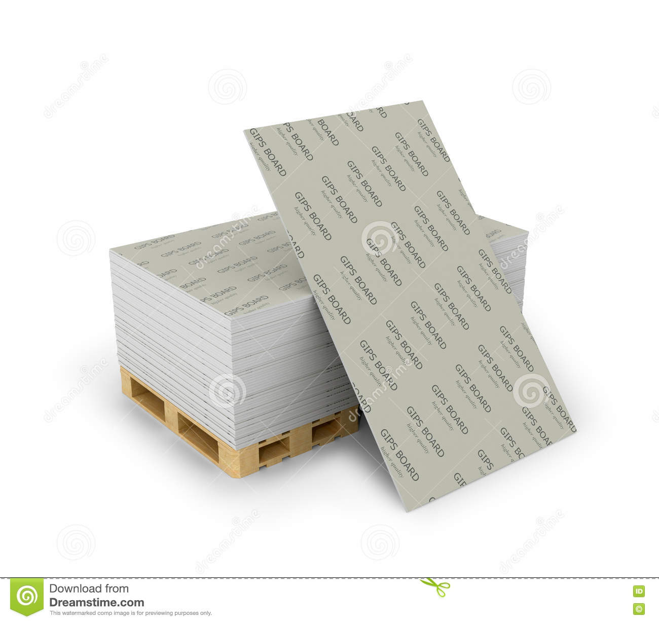 Drywall Time Cards : Stack drywall sheets stacked on wooden pallets stock