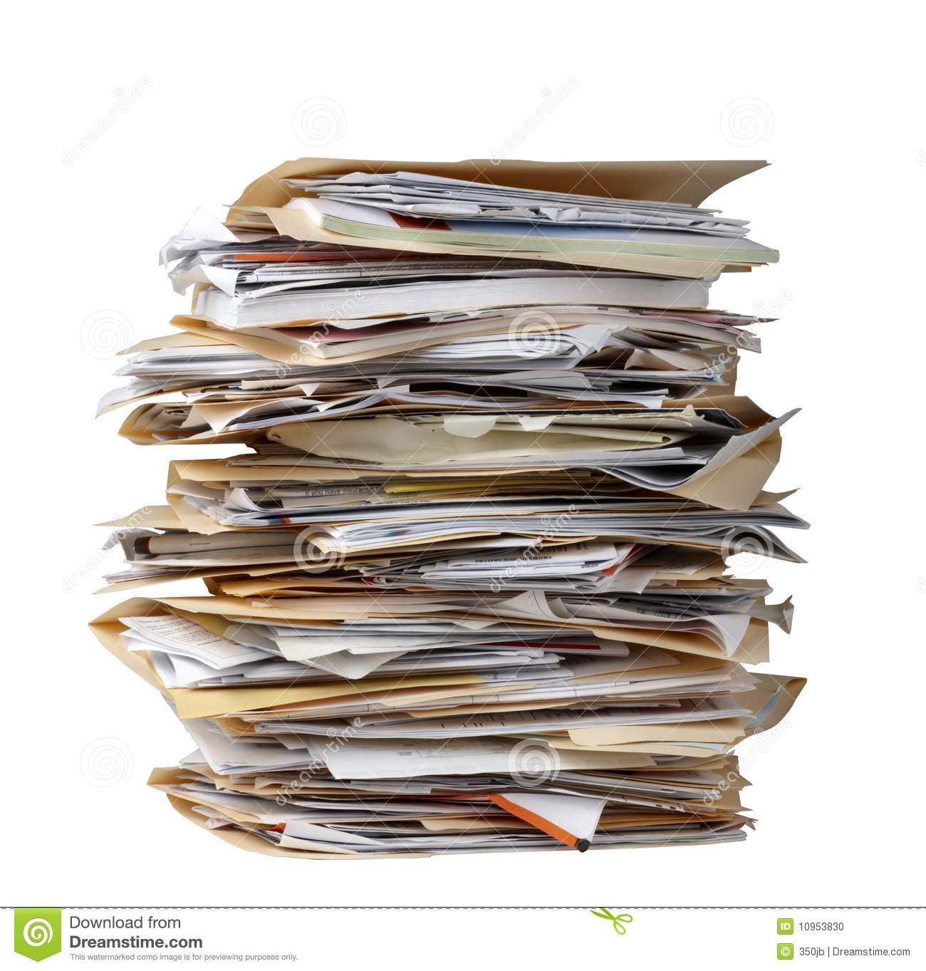 Stack Of File Folders Stock Photo Image Of Stack Archive