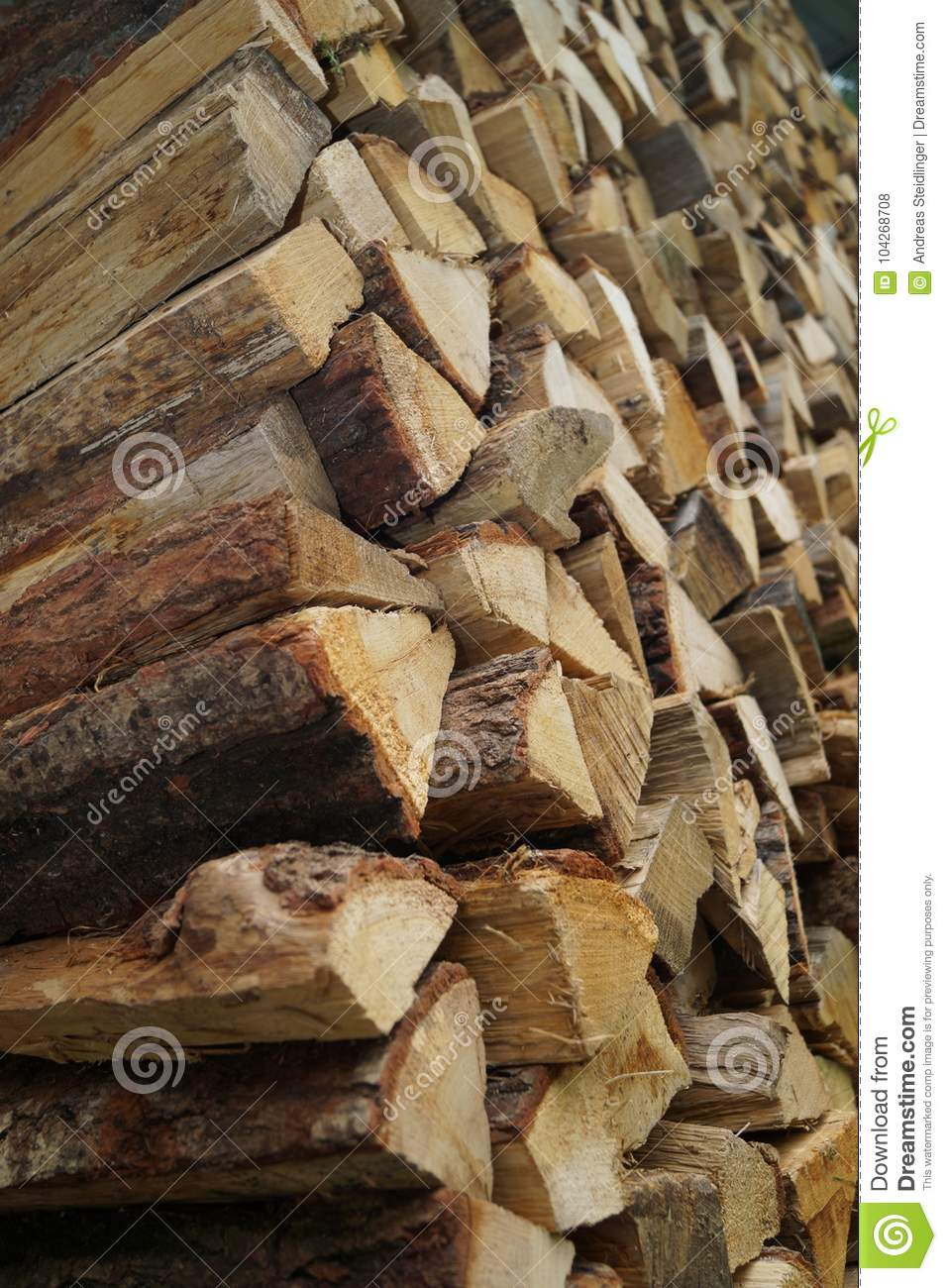 Stack Of Fire Wood Stock Photo Image Of Fireplace Living 104268708