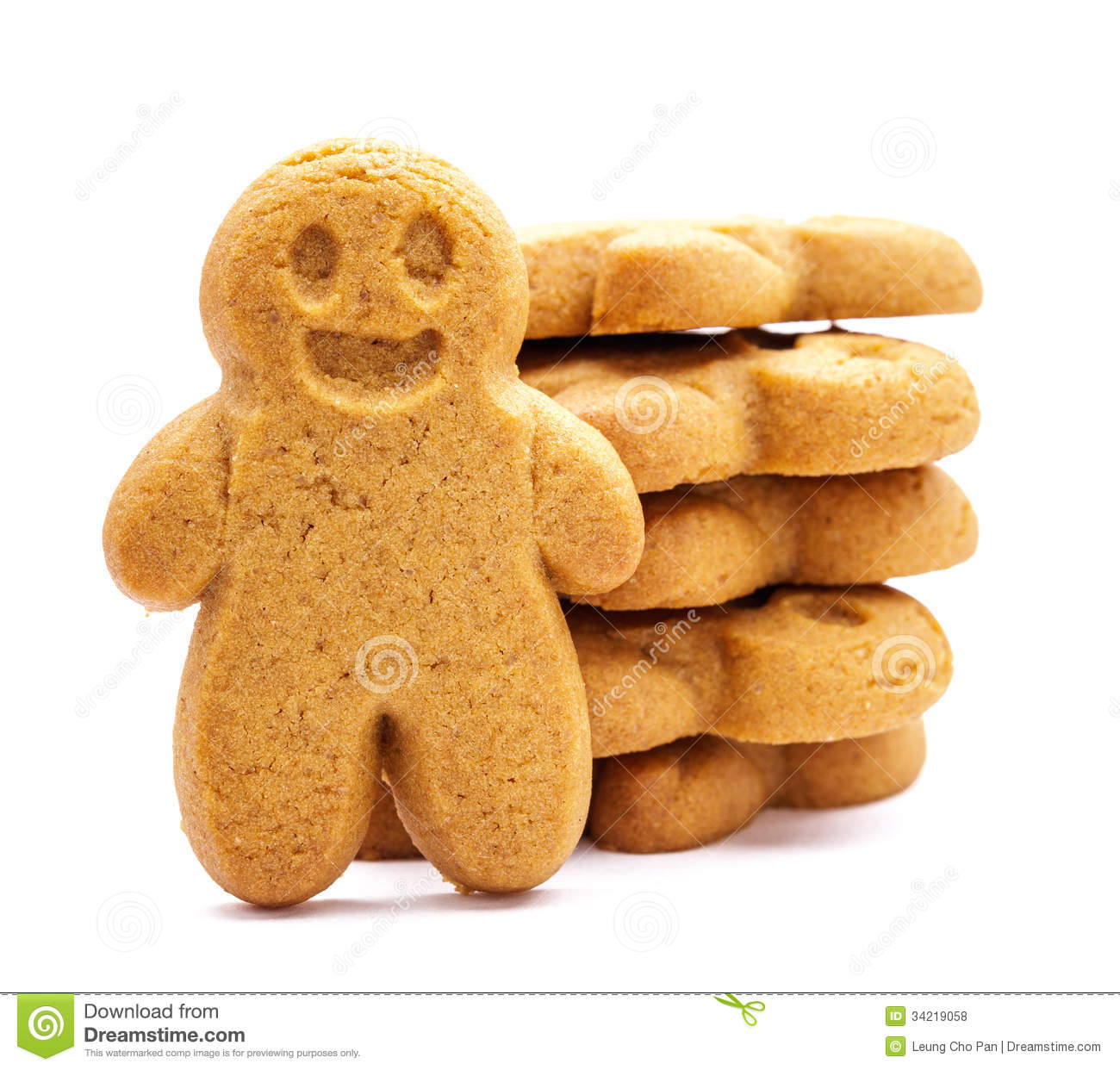 Download Stack Of Gingerbread Cookies Stock Photo - Image of isolated, holiday: 34219058