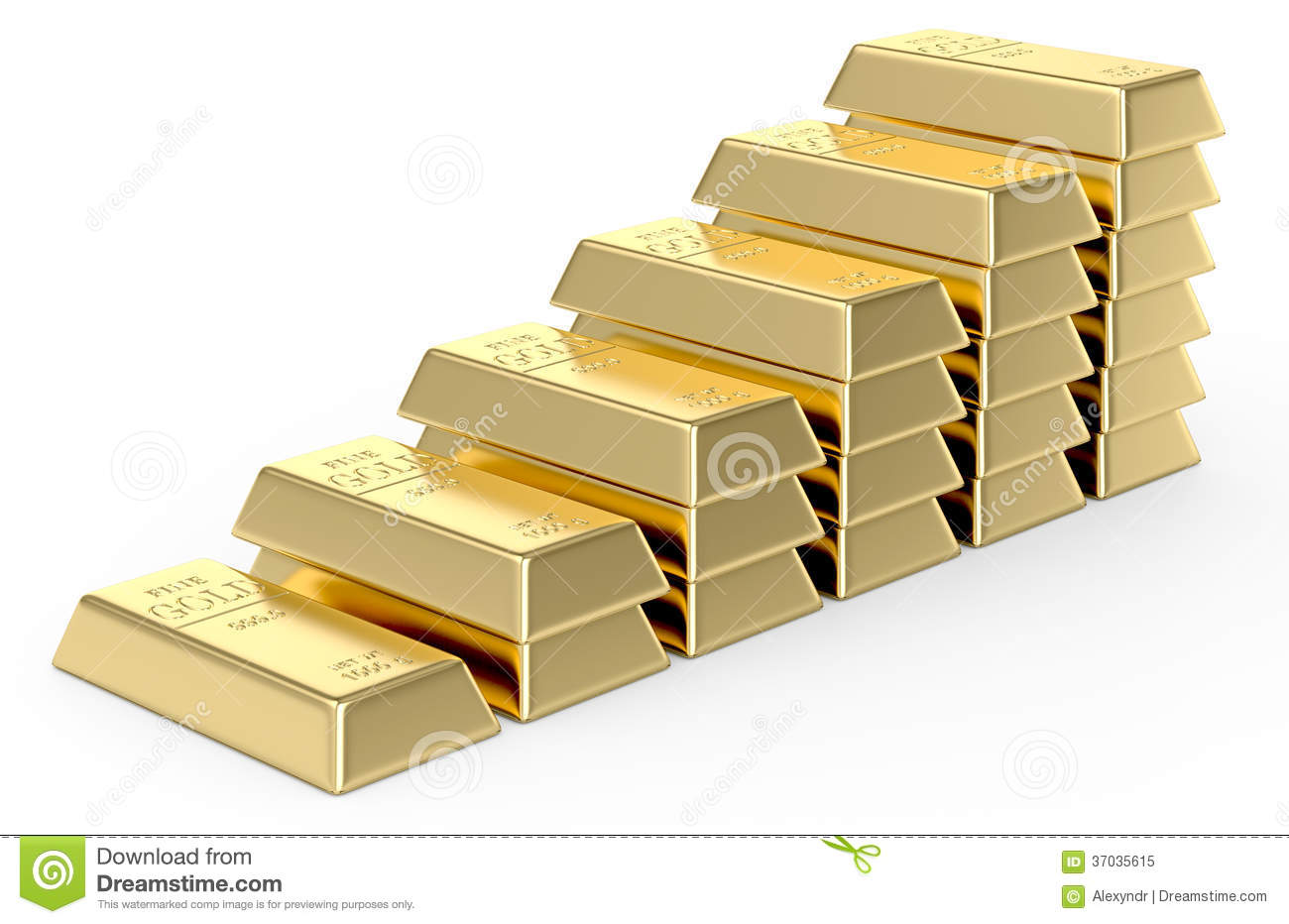 stacks of gold