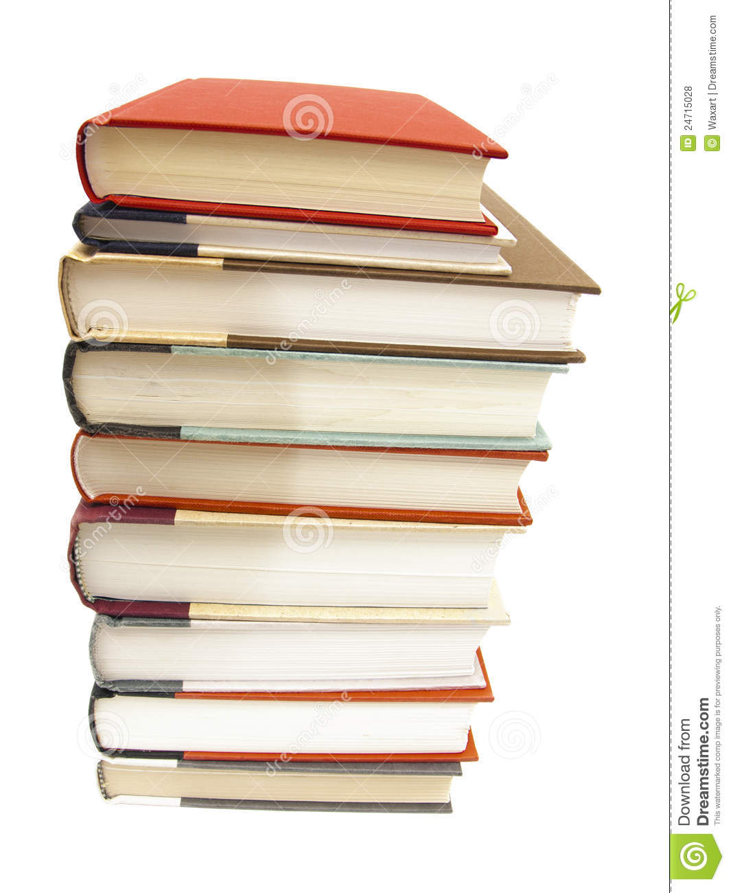 stack of hardcover books on white background royalty free