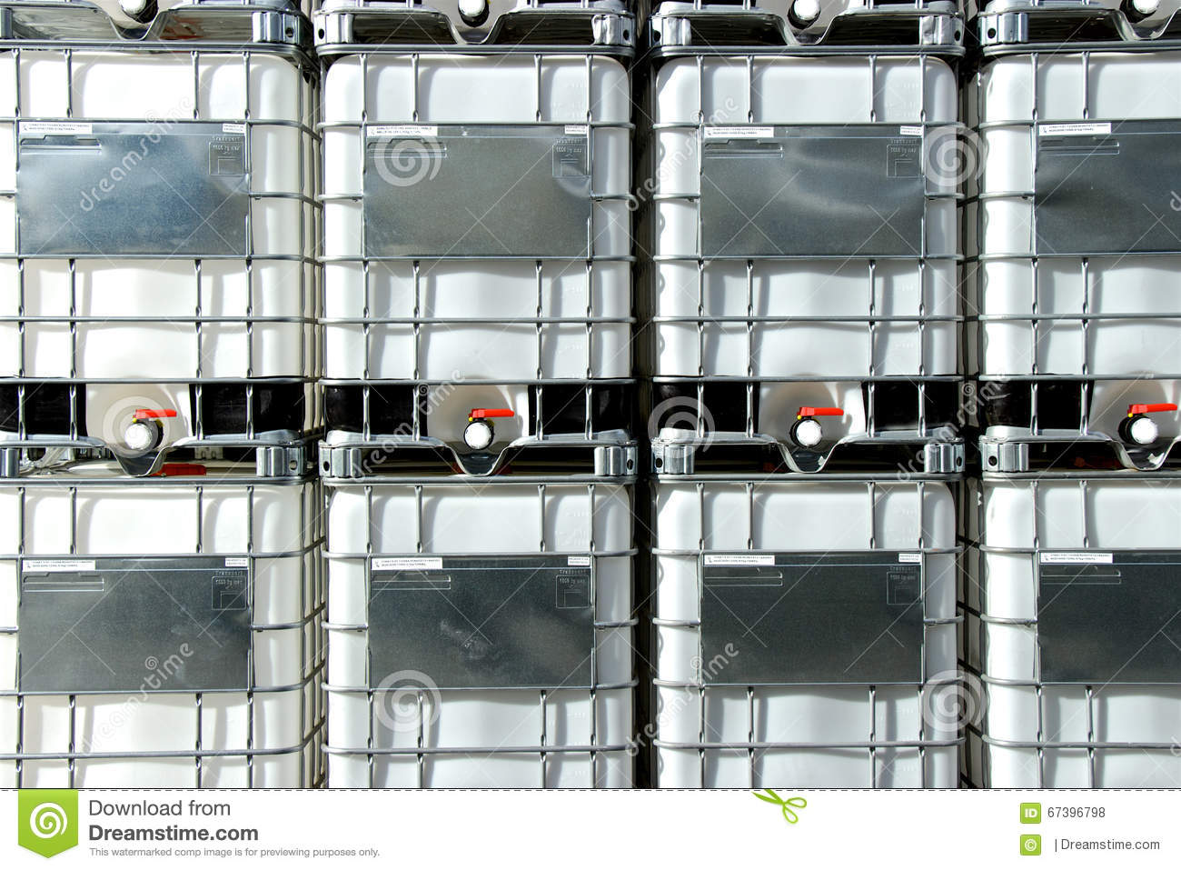 Stack Of Ibc Totes Stock Photo Image 67396798