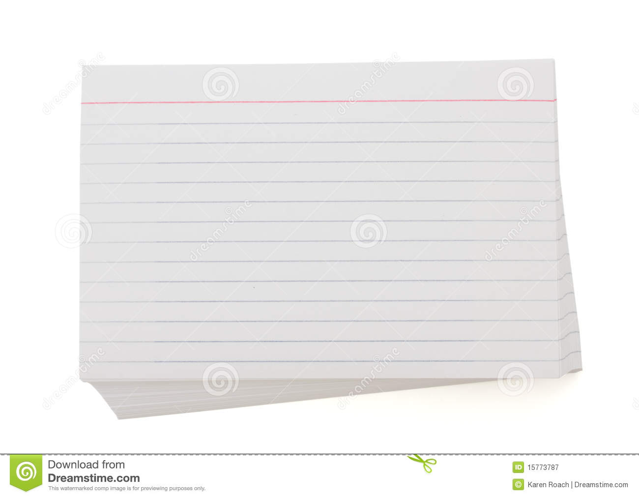 print on index cards
