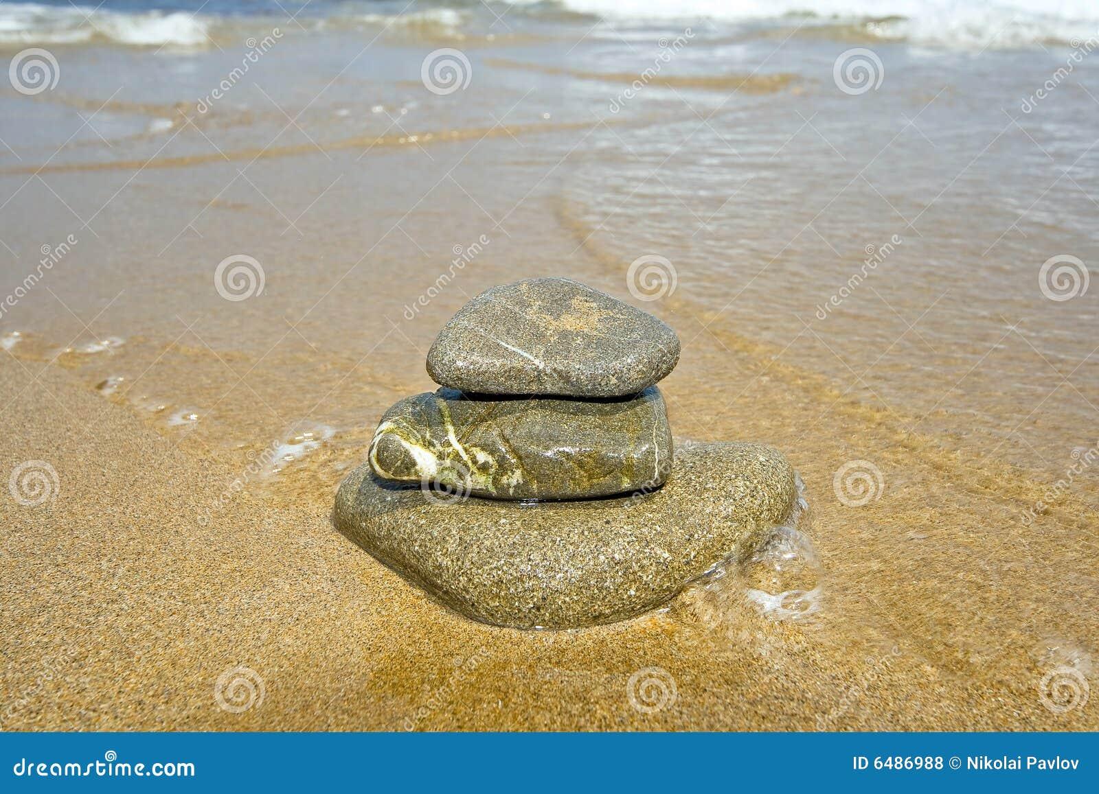 Stack kamieni wody