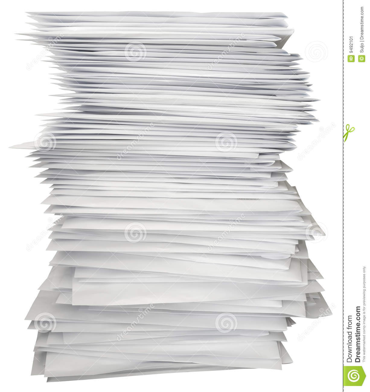 Stack Of Letters Stock Image Image 9492101