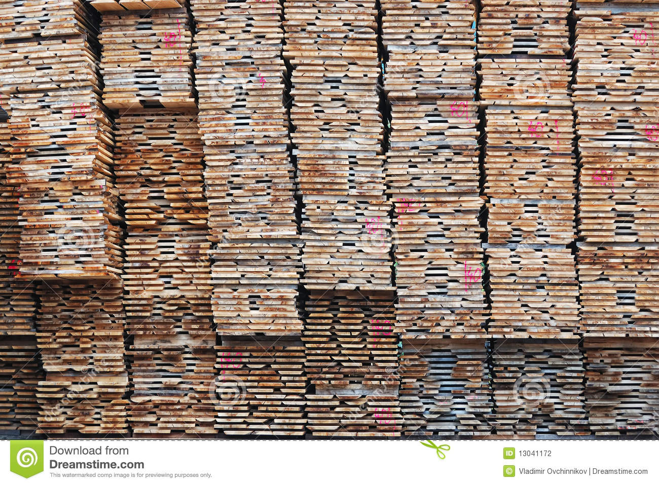 Stack of lumber stock photography image