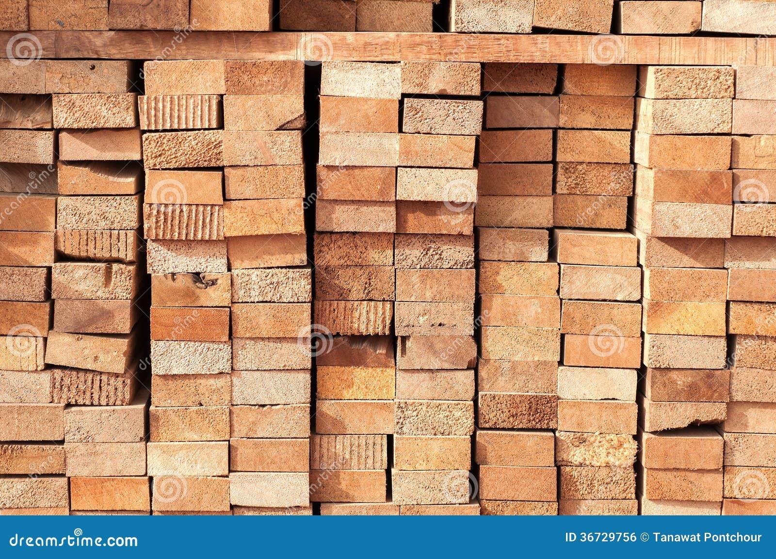 Stack of lumber royalty free stock image