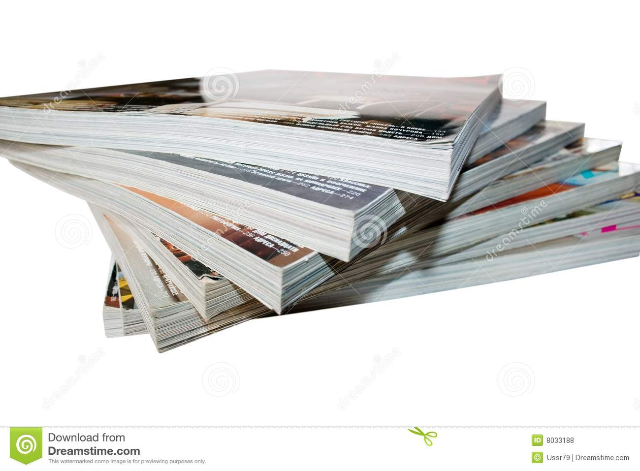 Stack Of Magazines Royalty Free Stock Photos - Image: 8033188
