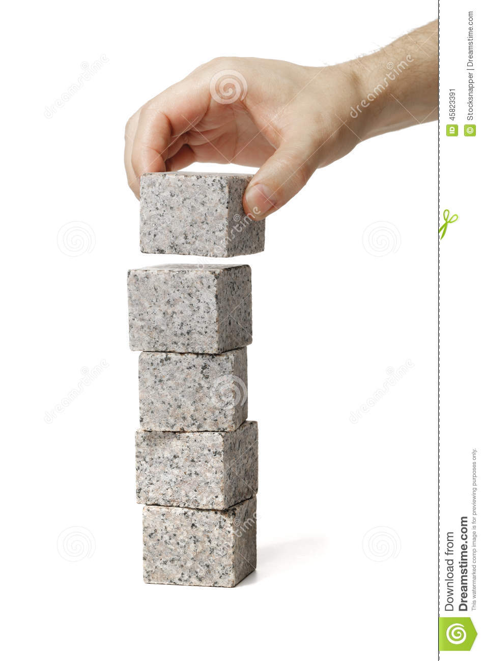 Marble Small Block : Stack stock image of stone stacked object cutout