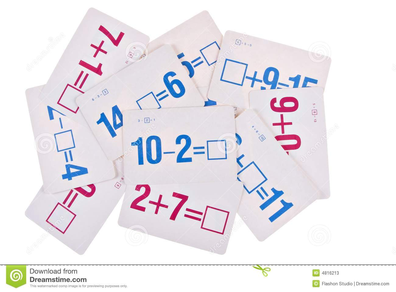 Worksheet Math Flash Cards stack of math flash card stock photos image 4816213 card