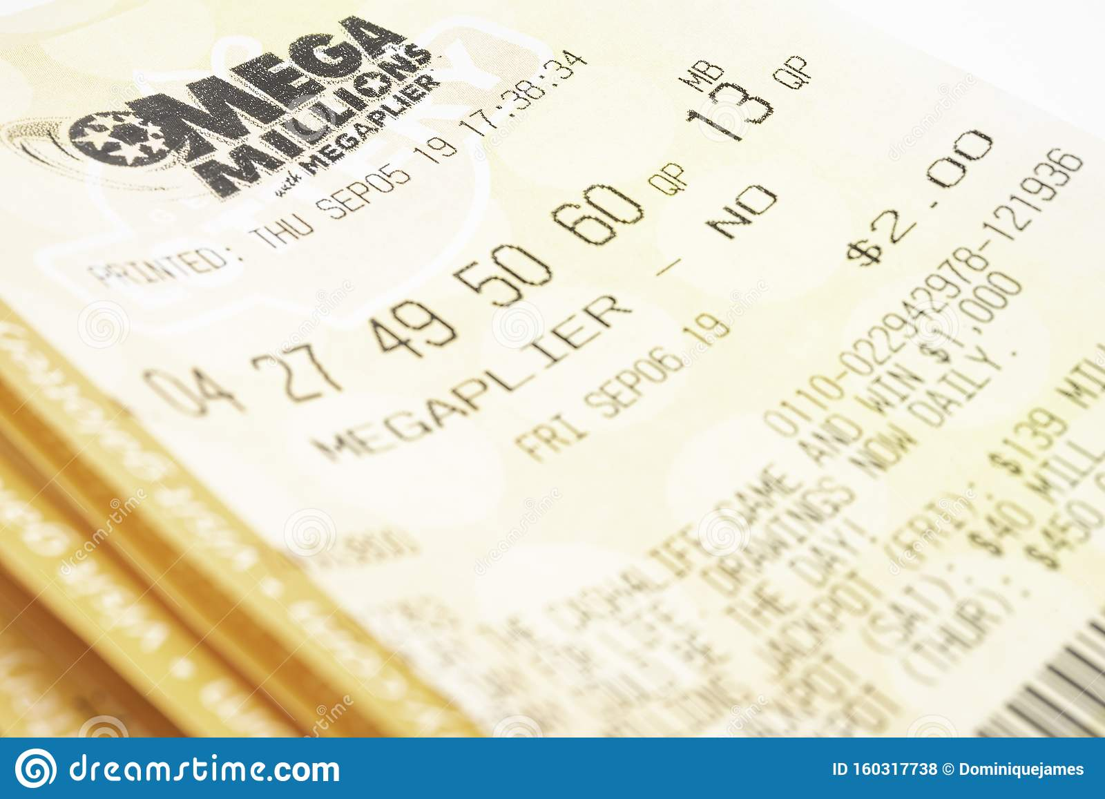 A Stack Of Mega Millions Tickets Editorial Stock Photo ...