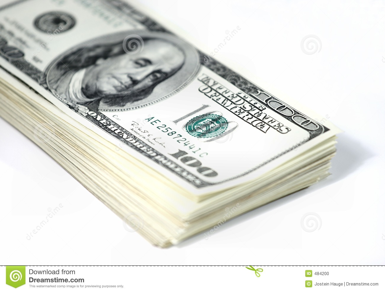 Stack Of Money Stock Photo - Image: 484200
