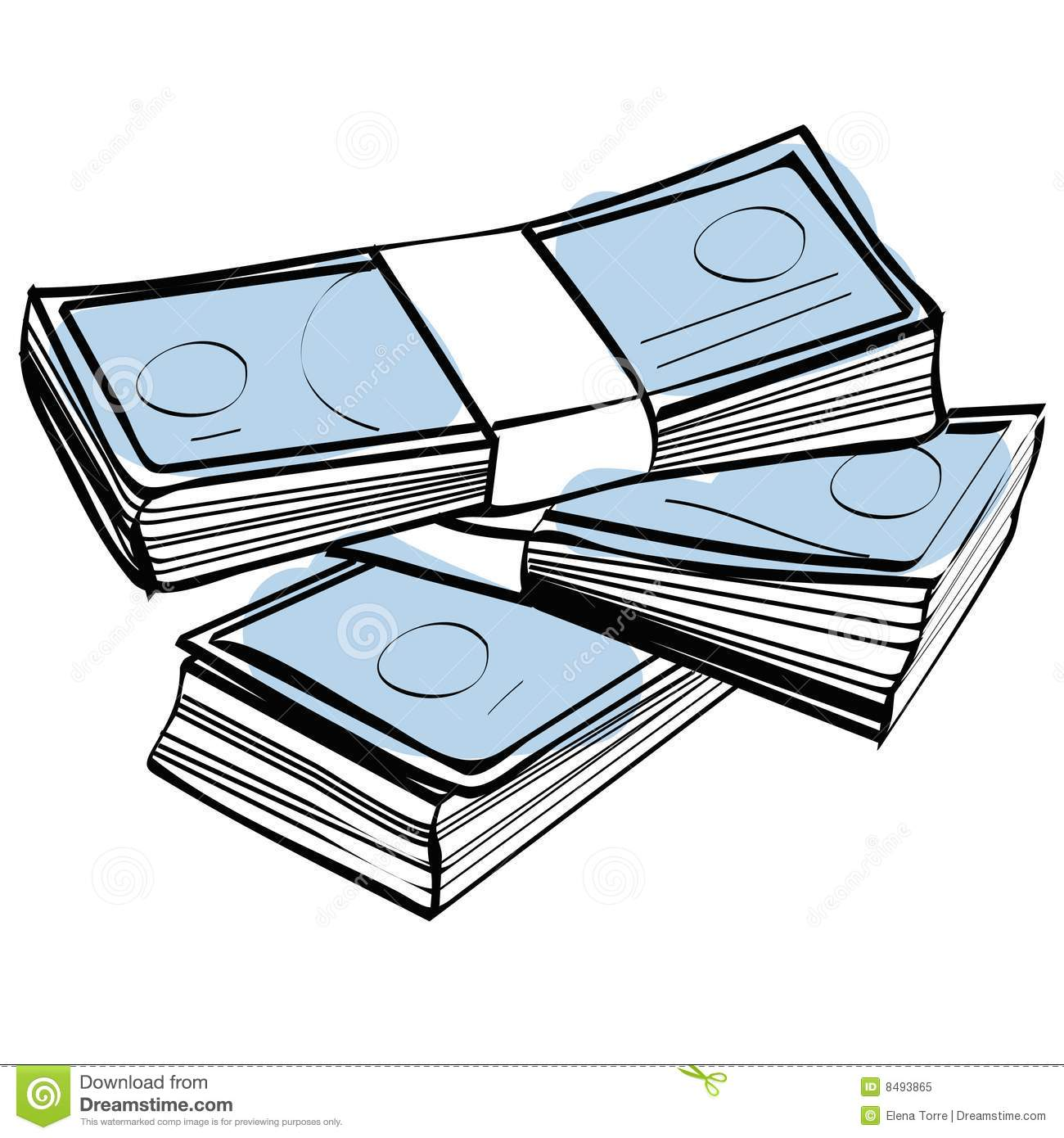 Money Stack Clip Art Stack of money vector ...
