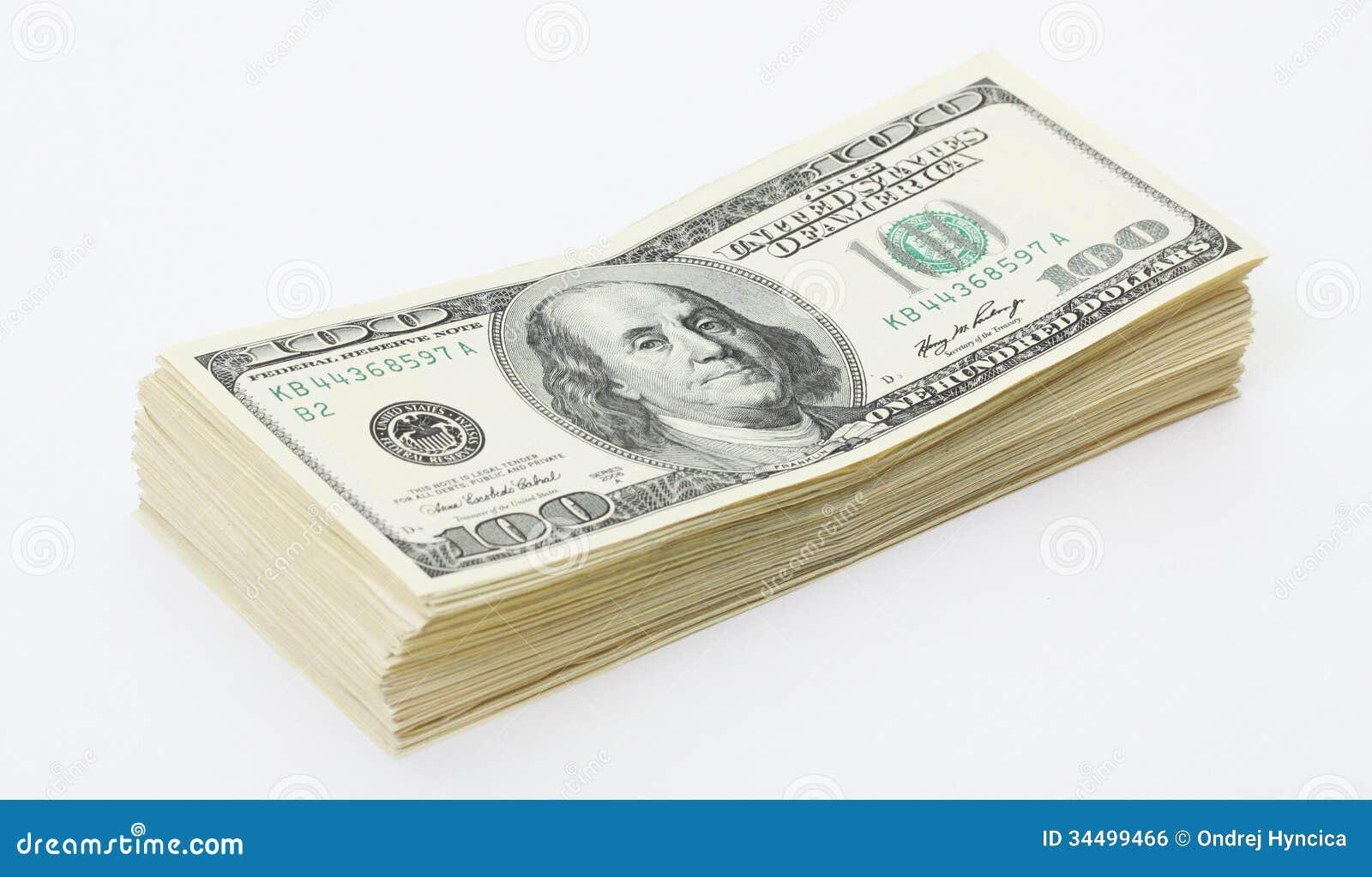 stack of money american hunderd dollar bills royalty free