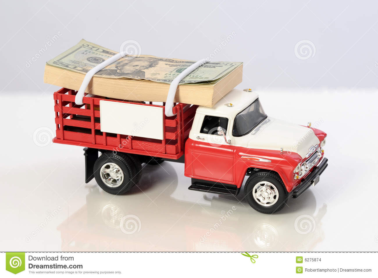 stack of money on top of pickup truck stock images image 6275874. Black Bedroom Furniture Sets. Home Design Ideas