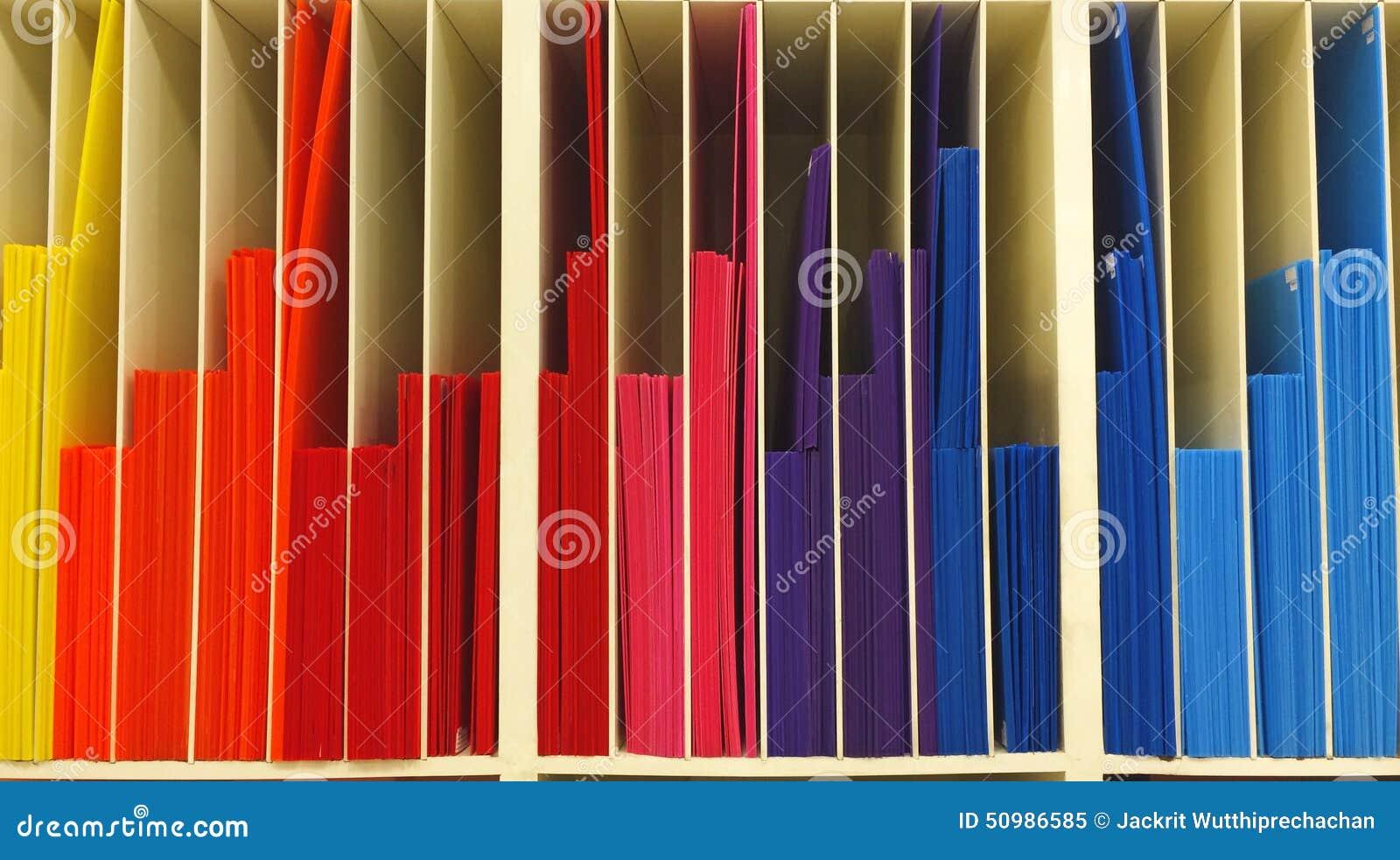 stack of multi color corrugated plastic order as graph. Black Bedroom Furniture Sets. Home Design Ideas