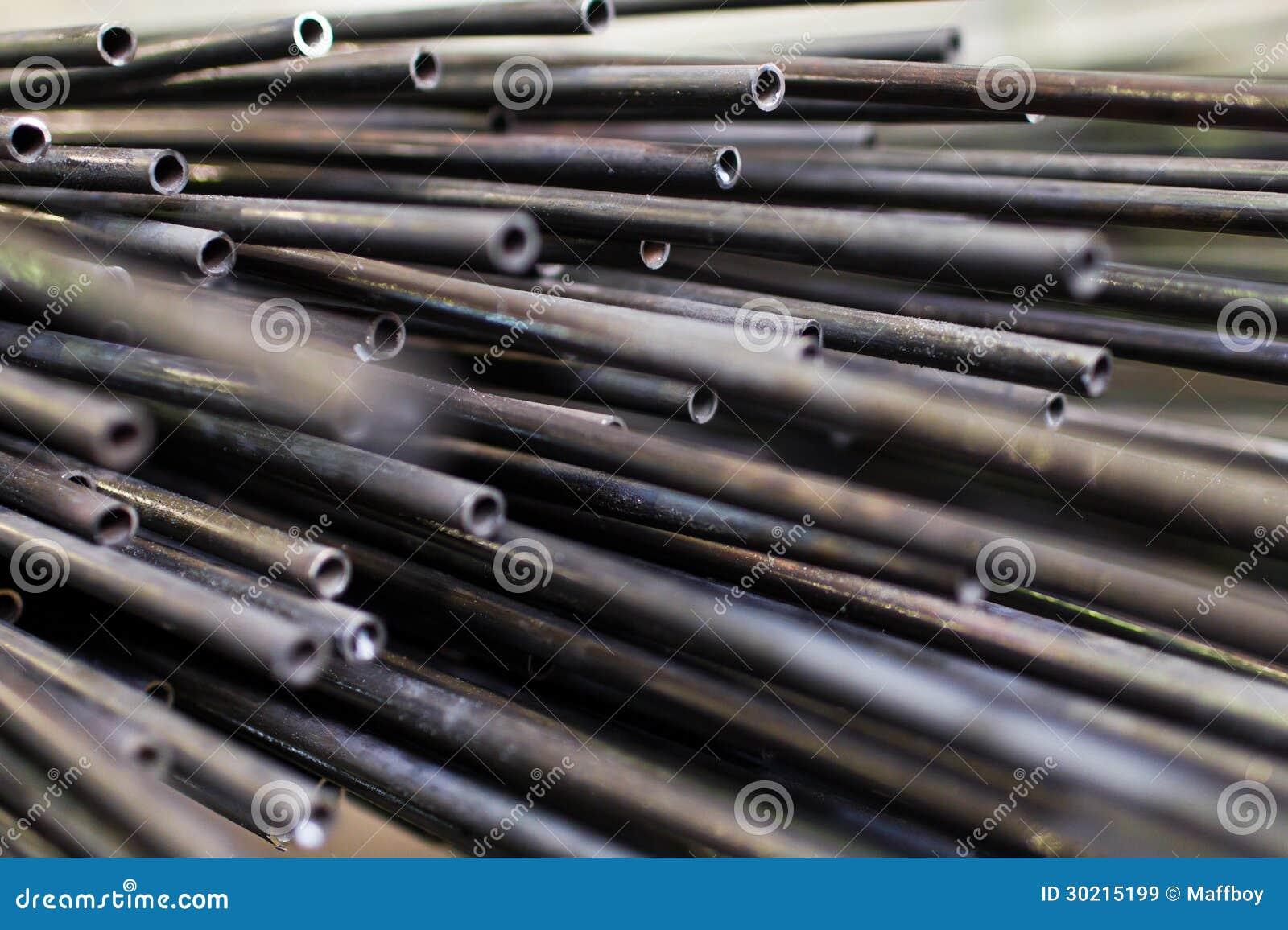 Small steel pipe stock image of rack gauge