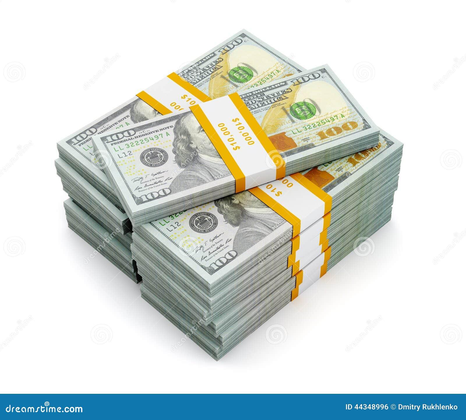 Stack Of Money 100 Dollars Bill : Stack of new us dollars edition banknotes bills