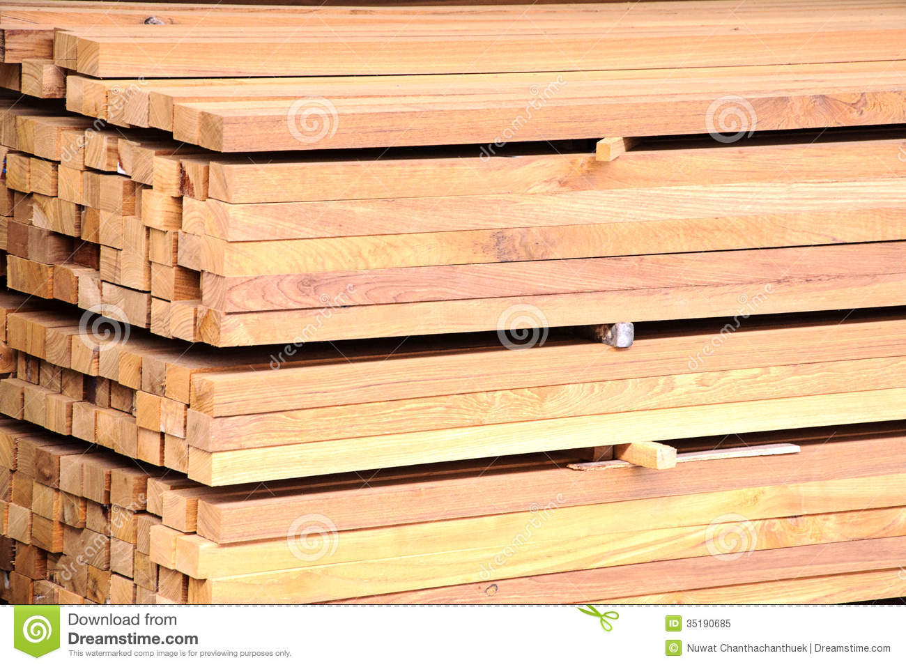 Stack of new wooden stock image grain board