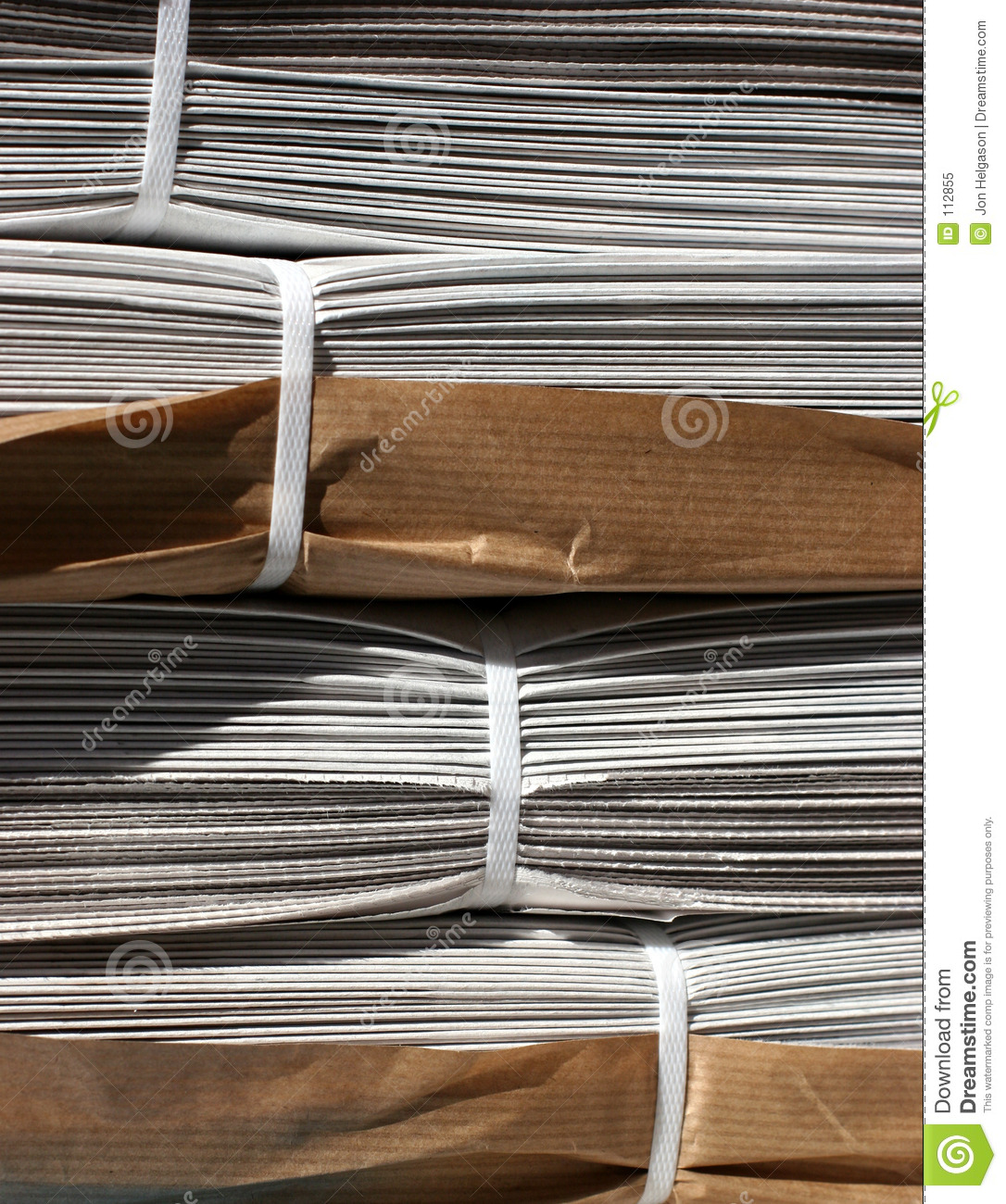 Download Stack of newspapers stock image. Image of information, news - 112855