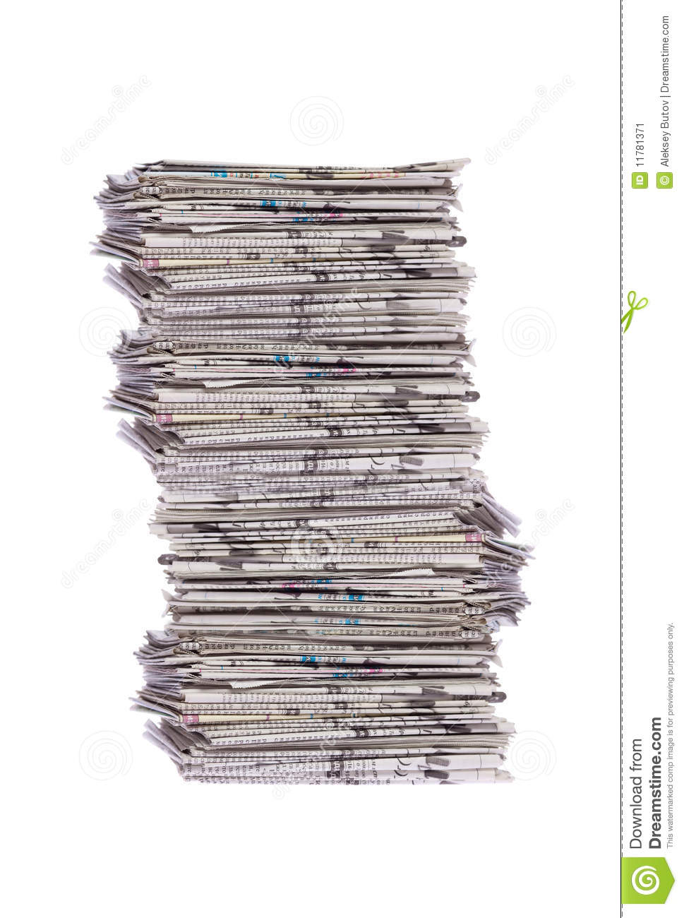 stack of newspapers stock image. image of media, information - 11781371