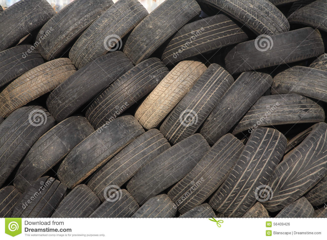 stack of old tires in garage stock photo image 56409426. Black Bedroom Furniture Sets. Home Design Ideas