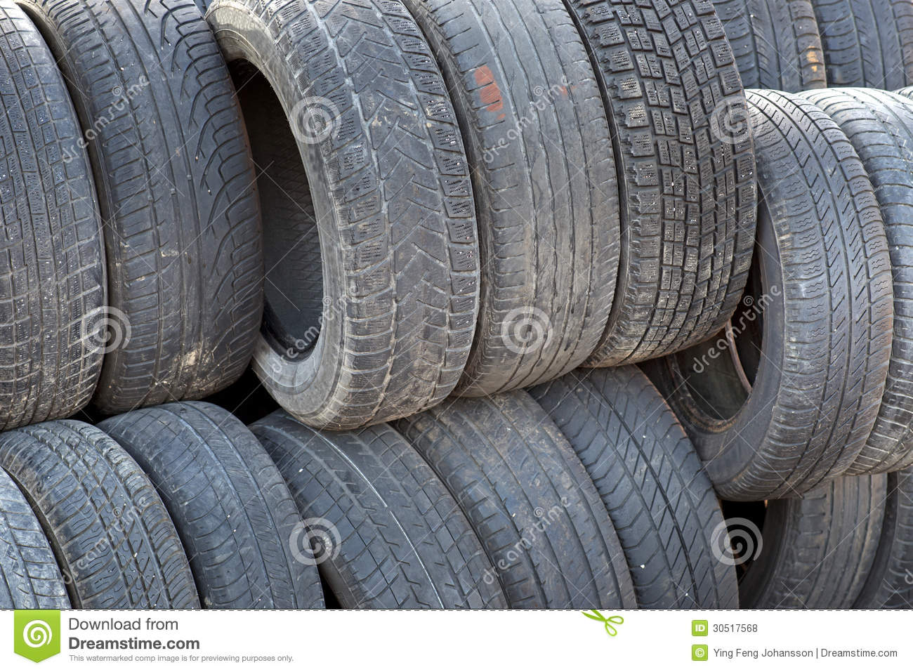 Stack of old tyres royalty free stock photos image 30517568 for Old tyre uses