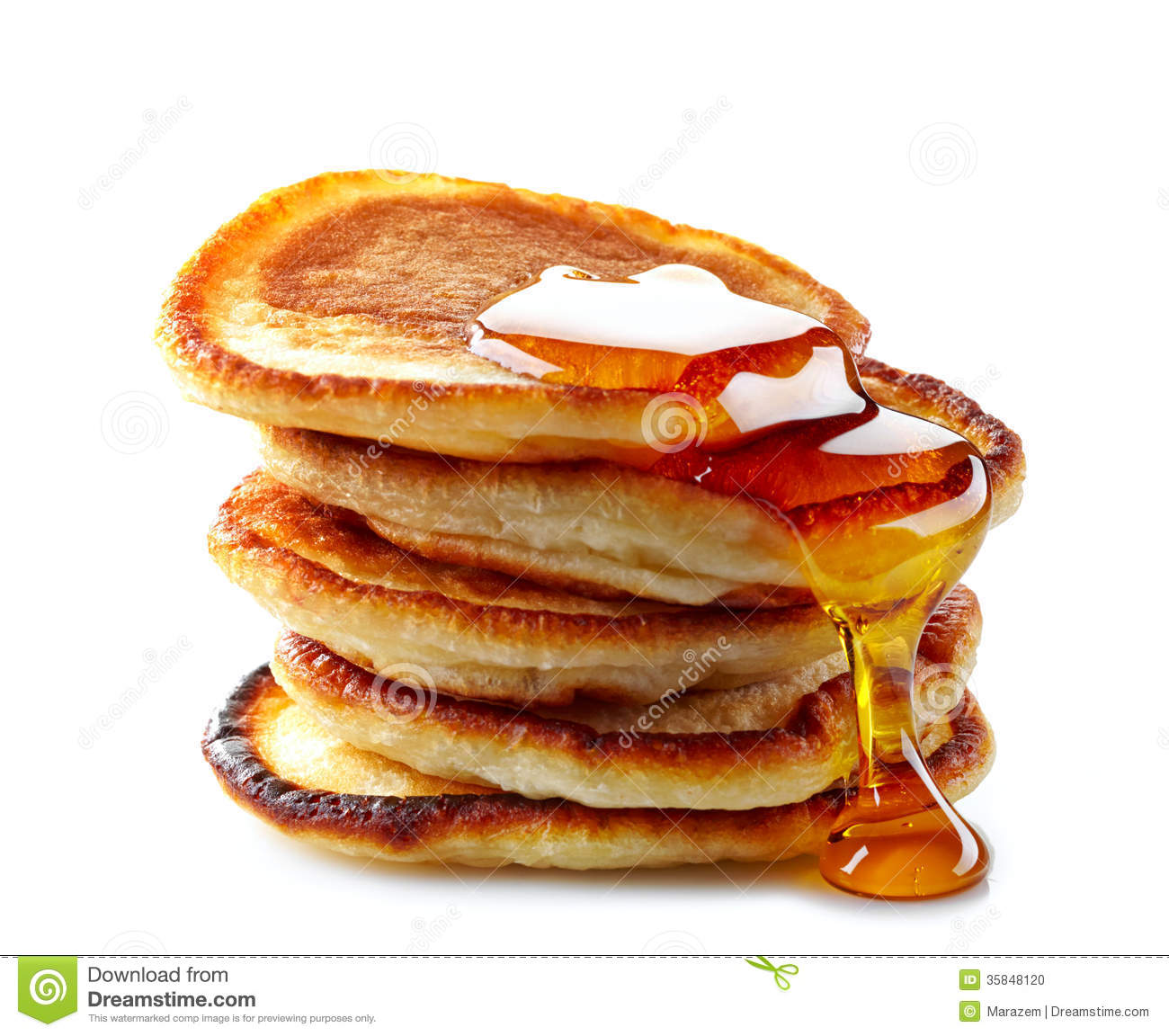 Stack Of Pancakes Stock Photo - Image: 35848120