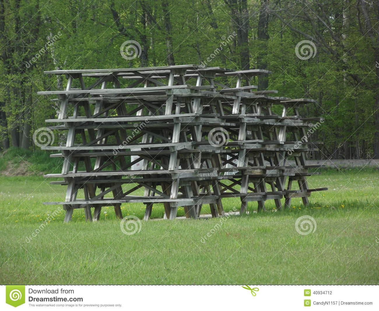 Stack Of Picnic Tables Stock Photo Image Of Table Tables - Picnic table michigan