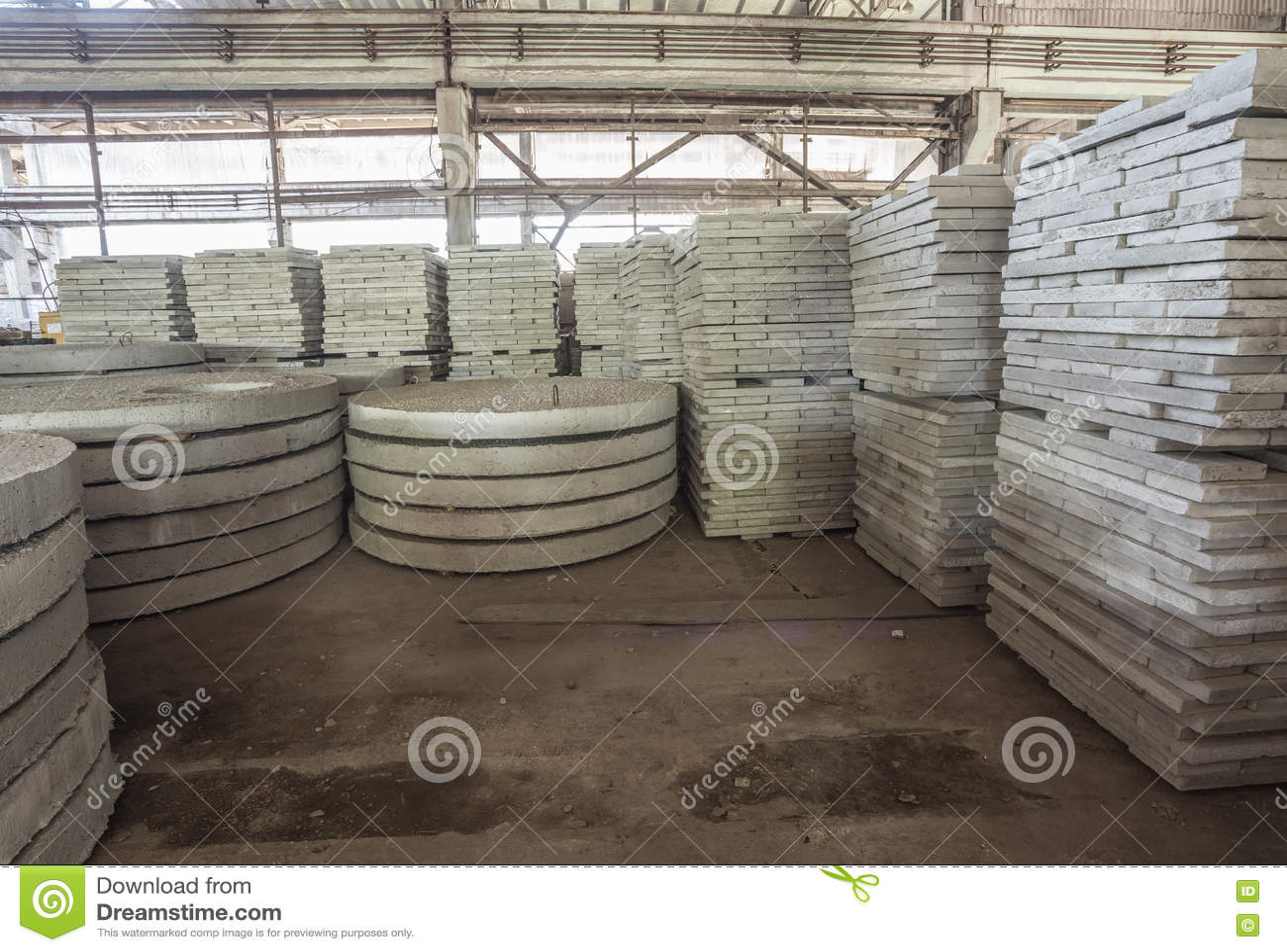 Precast Rcc Slab : Stack of precast reinforced concrete slabs in a house