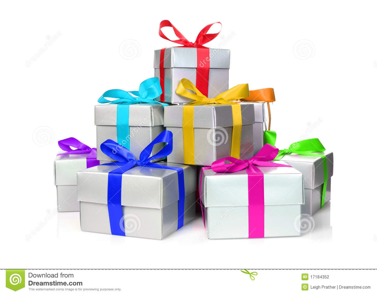 Stack of presents stock photography image 17184352