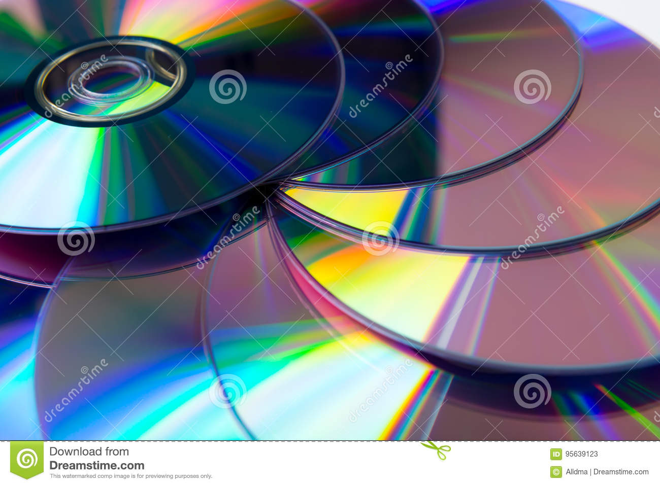 Stack of purple rewritable dvd collection