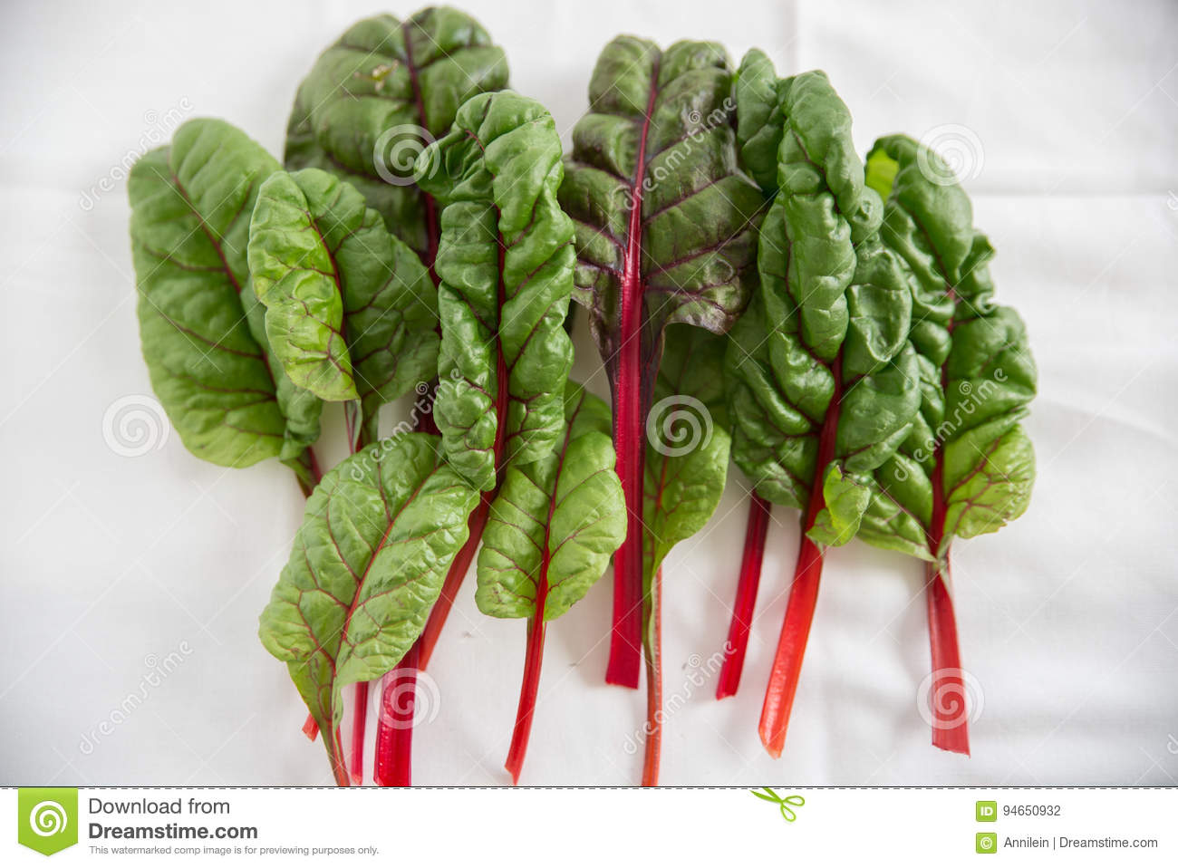 Stack Of Rainbow Chard Leaves Stock Photo Image Of Nutrition Plant 94650932